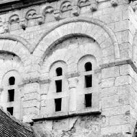 Vue partielle de la face ouest du clocher (1969)