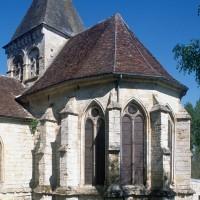 Le choeur et le clocher vus du sud-est (1997)
