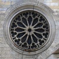 La rose néo-gothique de la chapelle nord (2017)