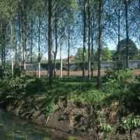 La Trye et le mur de clôture de l'abbaye