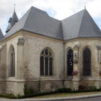 La chapelle sud et le choeur vus du sud-est (2015)