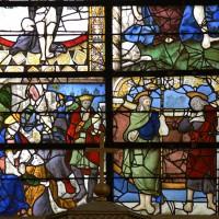 Détails de la verrière du centre de l'abside (2016)