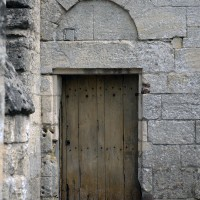 La porte de la façade ouest du bras sud du transept (2017)