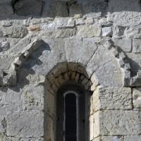 Décor de billettes au mur nord de la chapelle (2016)