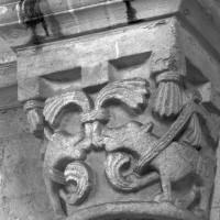 Chapiteau de l'arc doubleau de l'ancienne absidiole nord (1995)