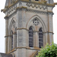 L'étage du beffroi du clocher vu du sud-ouest (2017)