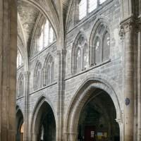 Le mur nord de la nef vu vers le nord-ouest