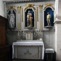 L'autel-retable du bas-côté nord (2016)