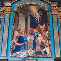 Détail de l'autel-retable : la Présentation de Jésus (2004)