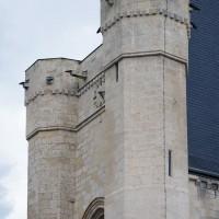 La partie supérieure, fortifiée, de la façade (2016)
