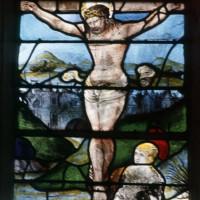 Détail du vitrail de la Crucifixion (1994)
