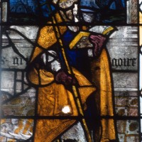 Fragment de vitrail conservé dans le choeur (1994)