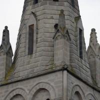Partie inférieure de la flèche du clocher vue du nord-est (2016)