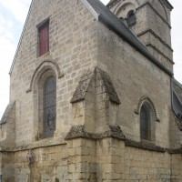 Le choeur et le clocher vus du nord-est (2015)