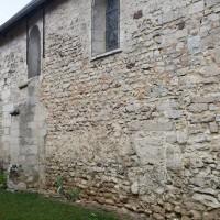 Le mur sud de la nef vu du sud-est (2015)