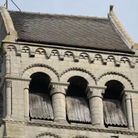 Le quatrième étage de la face sud du clocher (2015)