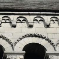 Détails et corniche beauvaisine de la face sud du clocher (2015)