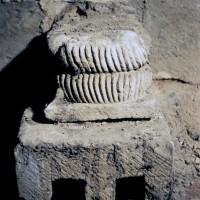 Base des baies du premier étage du clocher dissimulées dans les combles