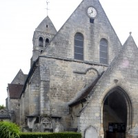 La nef et le clocher vus de l'ouest (2015)