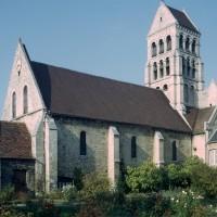 La nef et le clocher vus du sud-ouest (1973)