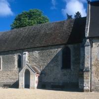 Vue partielle de l'église depuis le sud-est (1996)