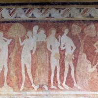 Détail de la fresque : Adam et Eve