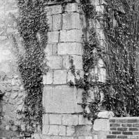 Contreforts plats romans à l'angle sud-ouest de la nef (1970)