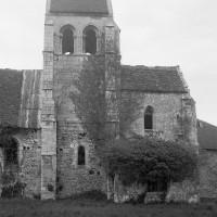 Vue partielle de l'église depuis le sud (1970)