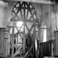 La base du clocher et le choeur vus vers l'est (1970)