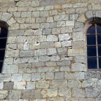 Fenêtres du mur gouttereau sud de la nef (1972)