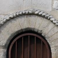 Moulure associée à la porte sud de la nef (2016)