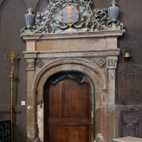 La porte au sud du choeur donnant sur la sacristie (2016)