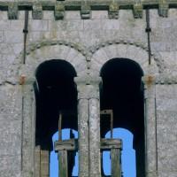 Le dernier étage du clocher vu du nord (1971)