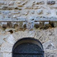 Fenêtre et décor de billettes de la façade ouest (2018)