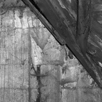 Colonnette à l'angle d'un coté de l'étage du beffroi (1969)