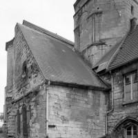 Le bras nord du transept et le clocher vus du nord-ouest (1993)