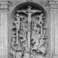 La partie centrale du retable : la Crucifixion (1995)
