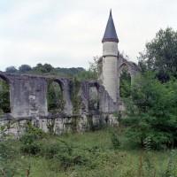 Vue partielle des ruines de l'église depuis le sud-ouest (2007)
