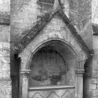L'enfeu gothique au mur nord du bras nord du transept (1997)