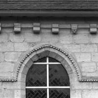 Détails de la corniche et de la fenêtre du mur sud (1997)