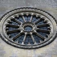 La rose - refaite au 19ème siècle - de la façade ouest (2019)