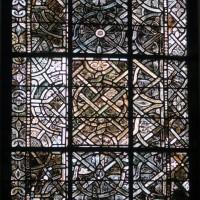 Détail de la grisaille de la fenêtre au mur nord du choeur (2019)