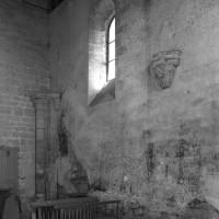 Vue partielle du mur sud de l'ancienne nef vers le sud-est (1997)