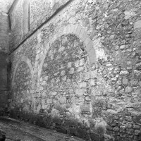 Le mur nord de la nef vu du nord-ouest (1995)