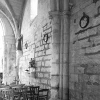 Retombée des voûtes au mur gouttereau sud de la nef (1996)