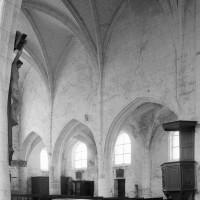 Le mur gouttereau nord de la nef vu vers le nord-ouest (1996)