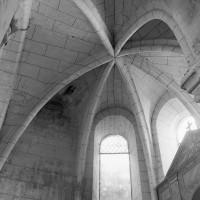 La voûte de l'abside de la chapelle nord vue vers le nord (1997)