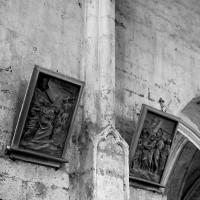 Retombée des voûtes dans le vaisseau central de la nef