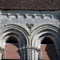 Détails des parties hautes des baies du clocher (2017)