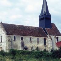 L'église vue du sud-ouest (1972)